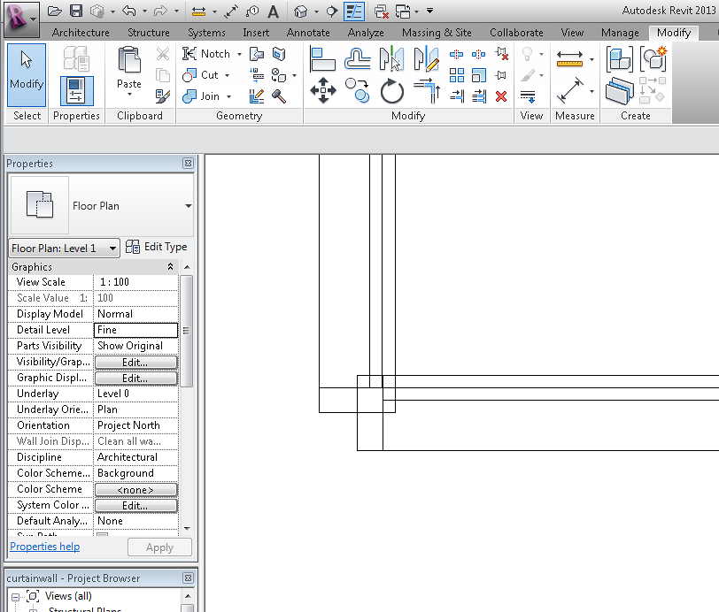how to create curtain wall in revit